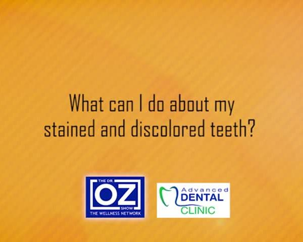 ADV Dental - What can I do about my stained and discolored