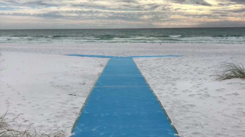 Walton County Gets Wheelchair Friendly Mats for the Beach