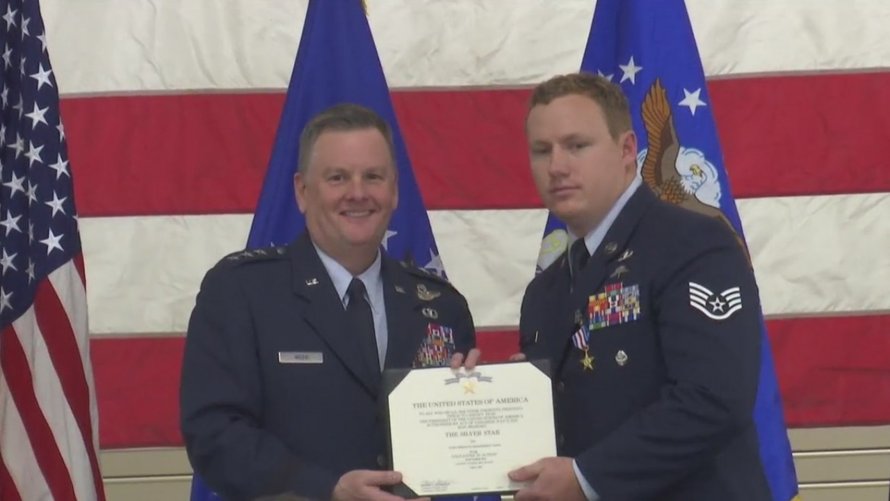 Local Hero is Presented the Silver Star Medal