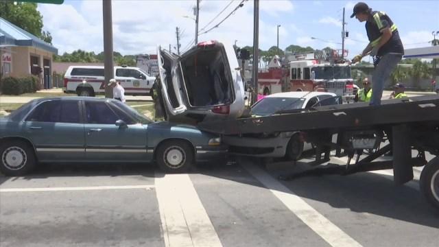Car Crash on Michigan Avenue Injures Two