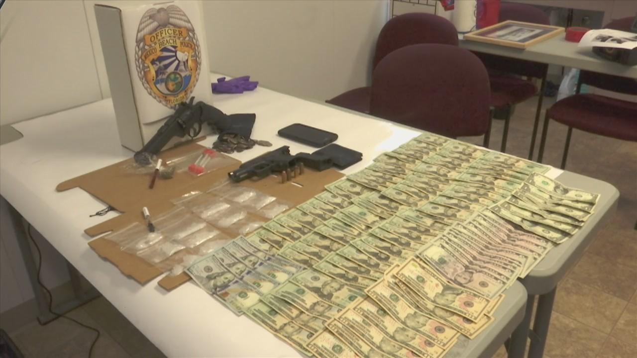 Giddin Found with Cash, Gun, Drugs