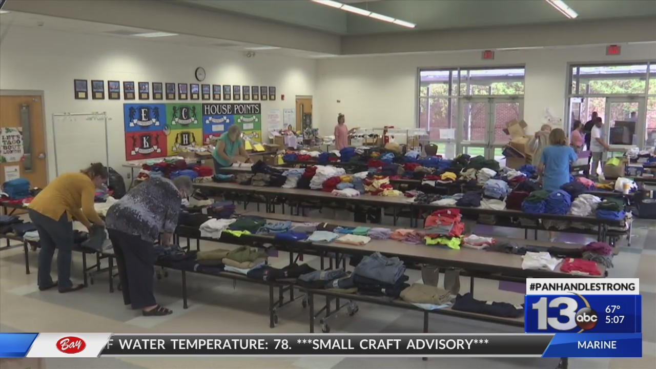 Bay District Schools Collects Clothing, Supplies for