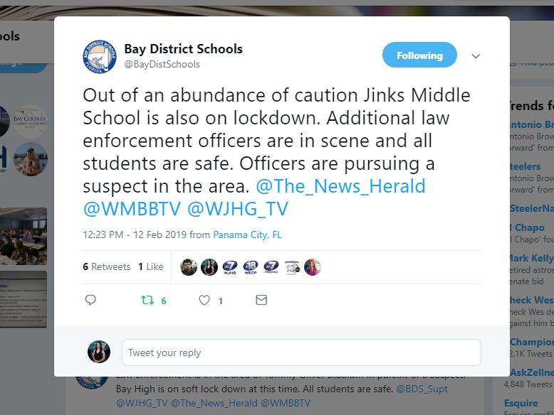 Schools On Soft Lock Down As Law Enforcement Search For Suspect