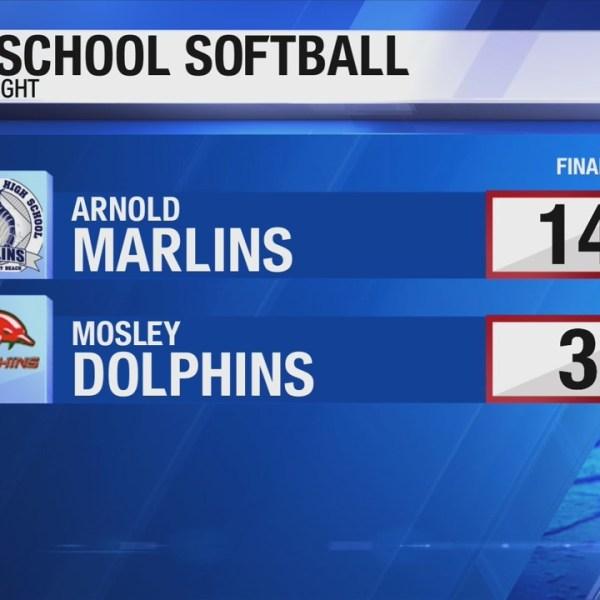Arnold softball beats Mosley Wednesday night