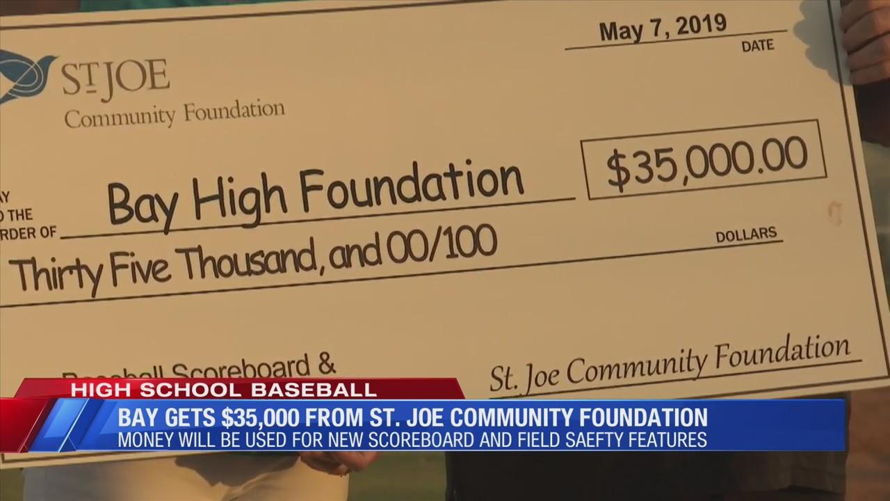 Bay baseball program gets a big donation