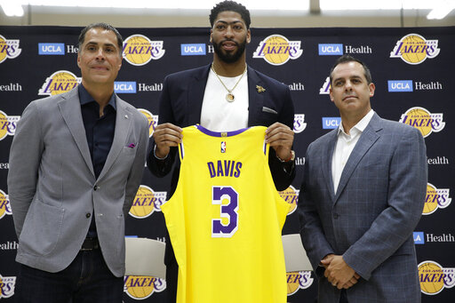 Rob Pelinka, Anthony Davis, Frank Vogel