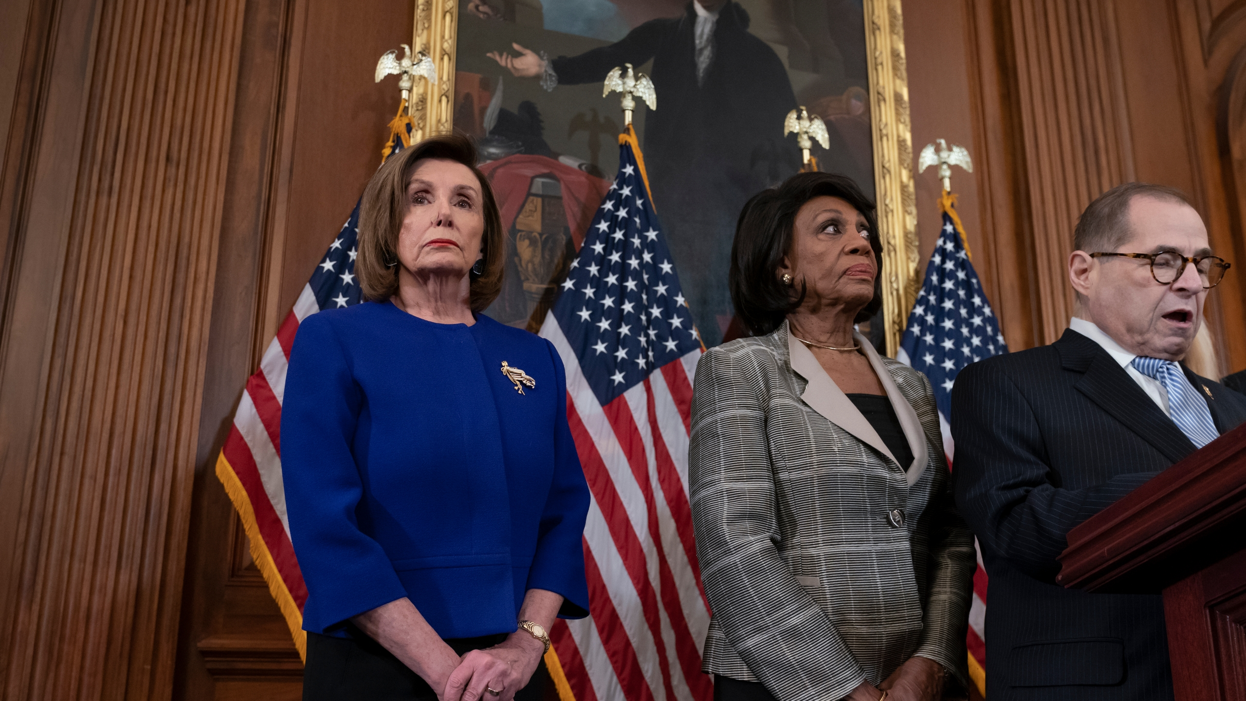 Nancy Pelosi, Jerrold Nadler, Maxine Waters