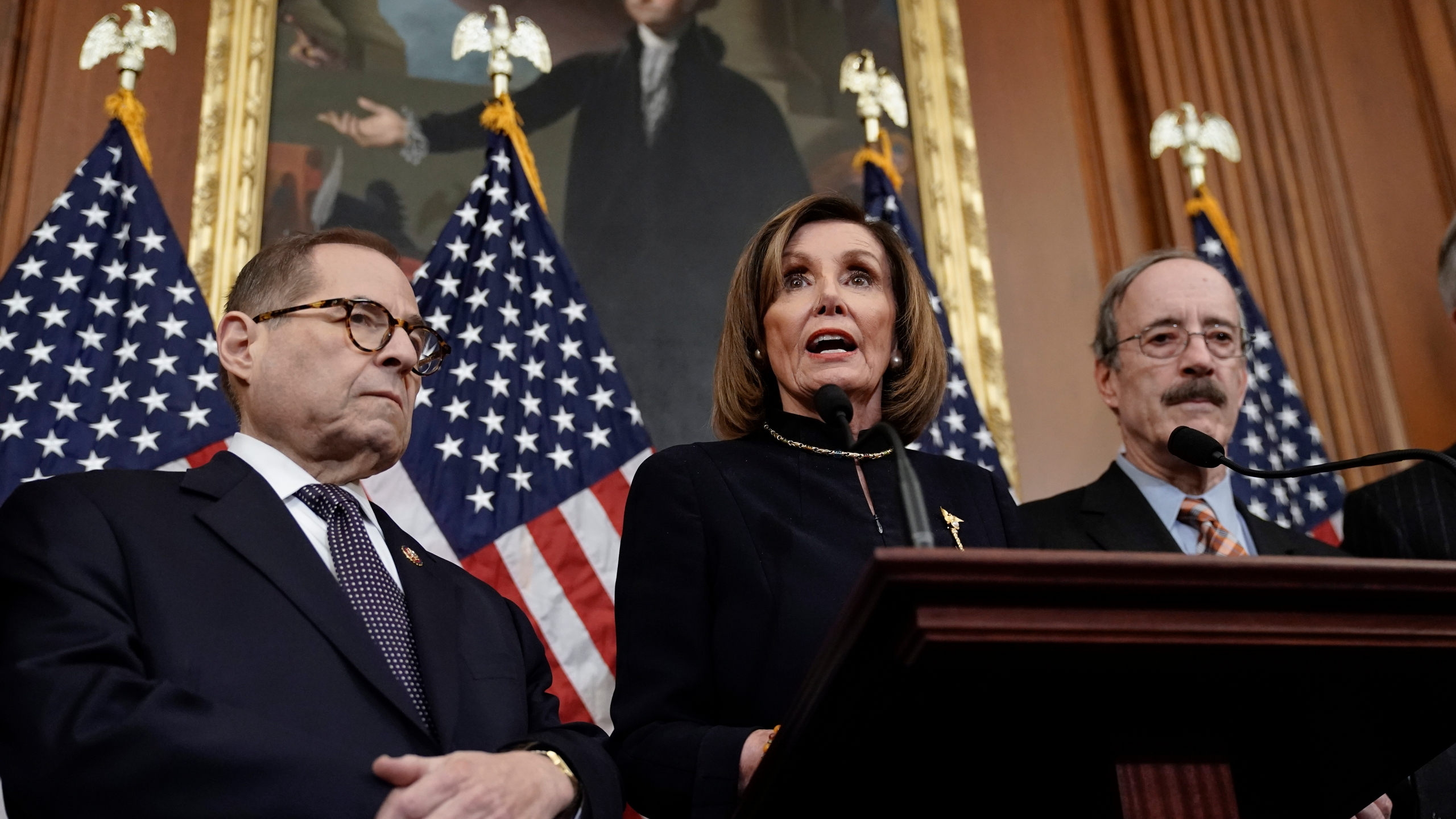 Nancy Pelosi, Jerrold Nadler, Eliot Engel