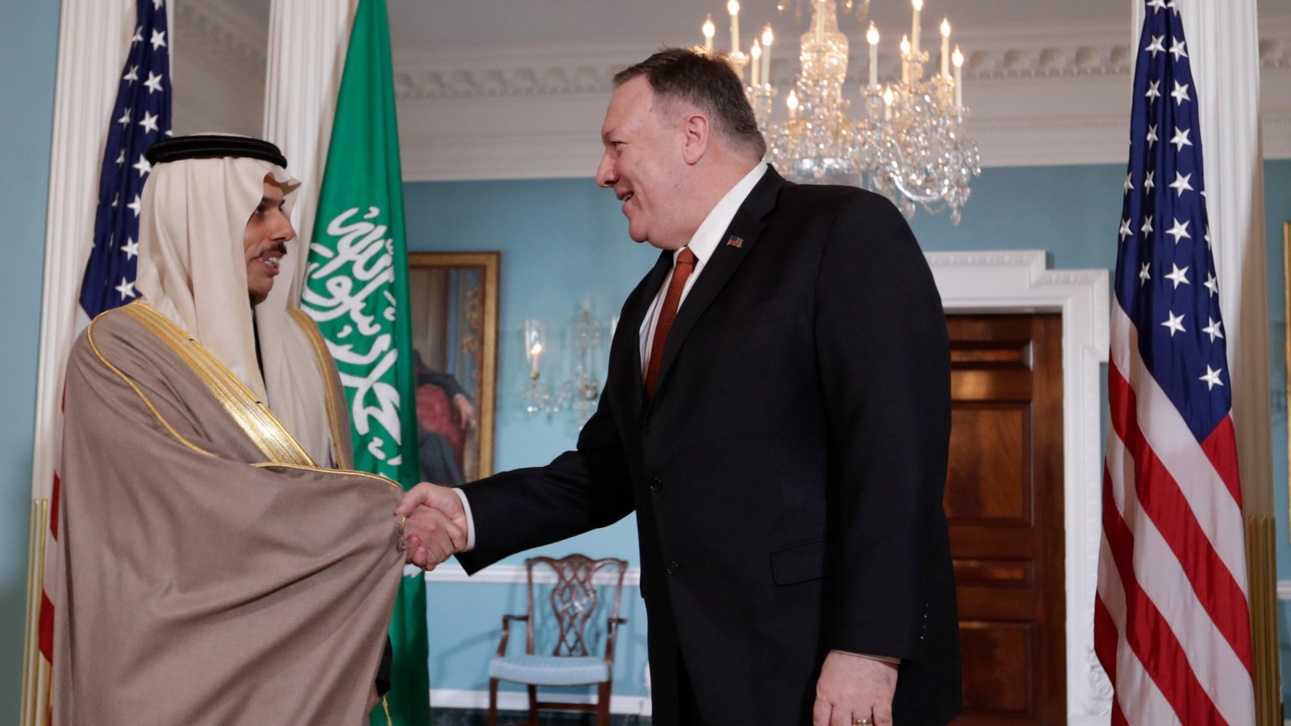Mike Pompeo, Faisal bin Farhan Al Saud