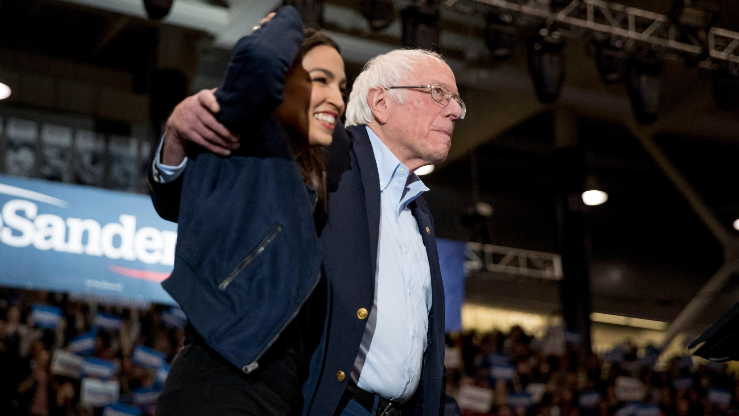 Bernie Sanders, Alexandria Ocasio-Cortez