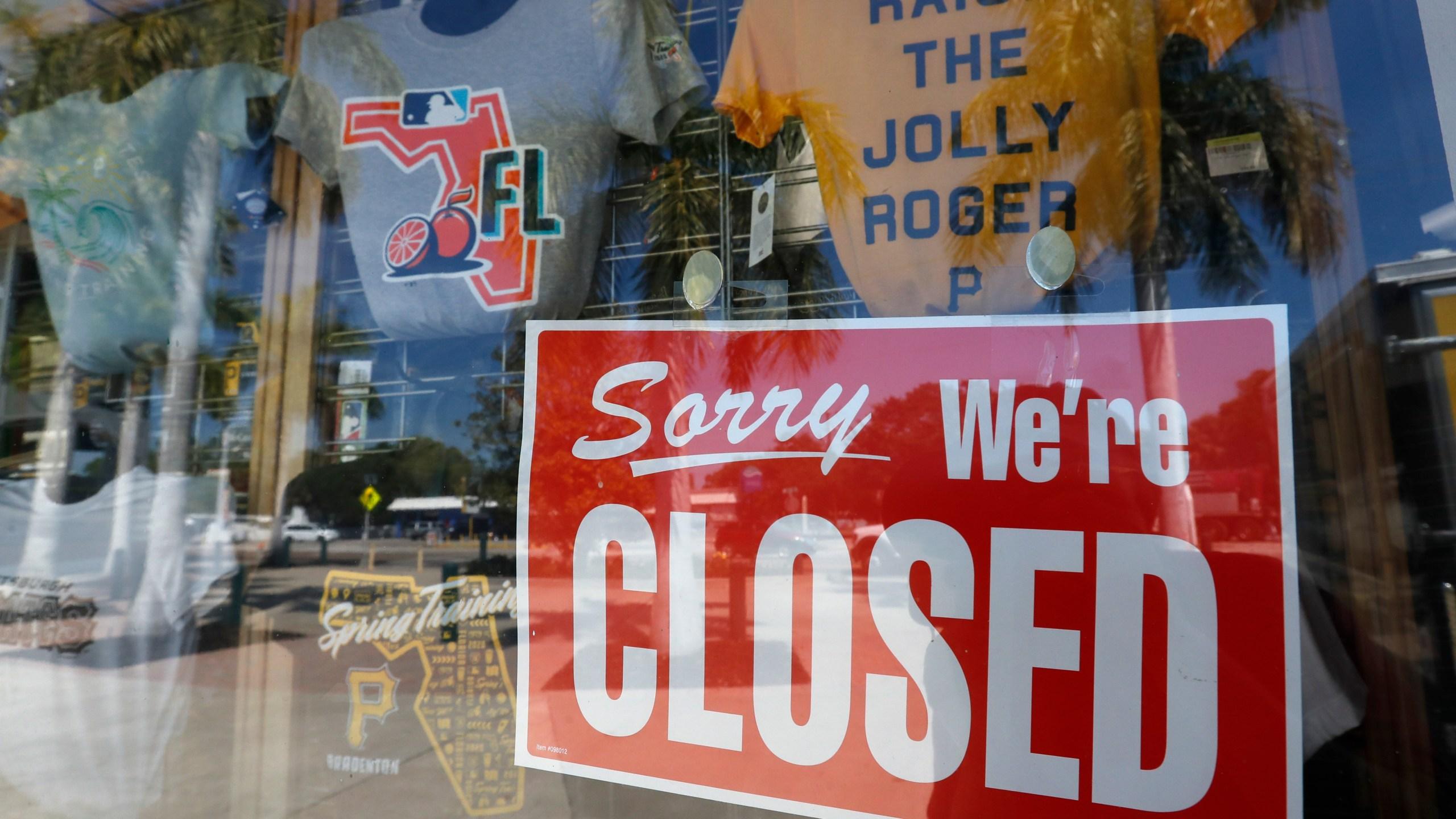 closed sign in door