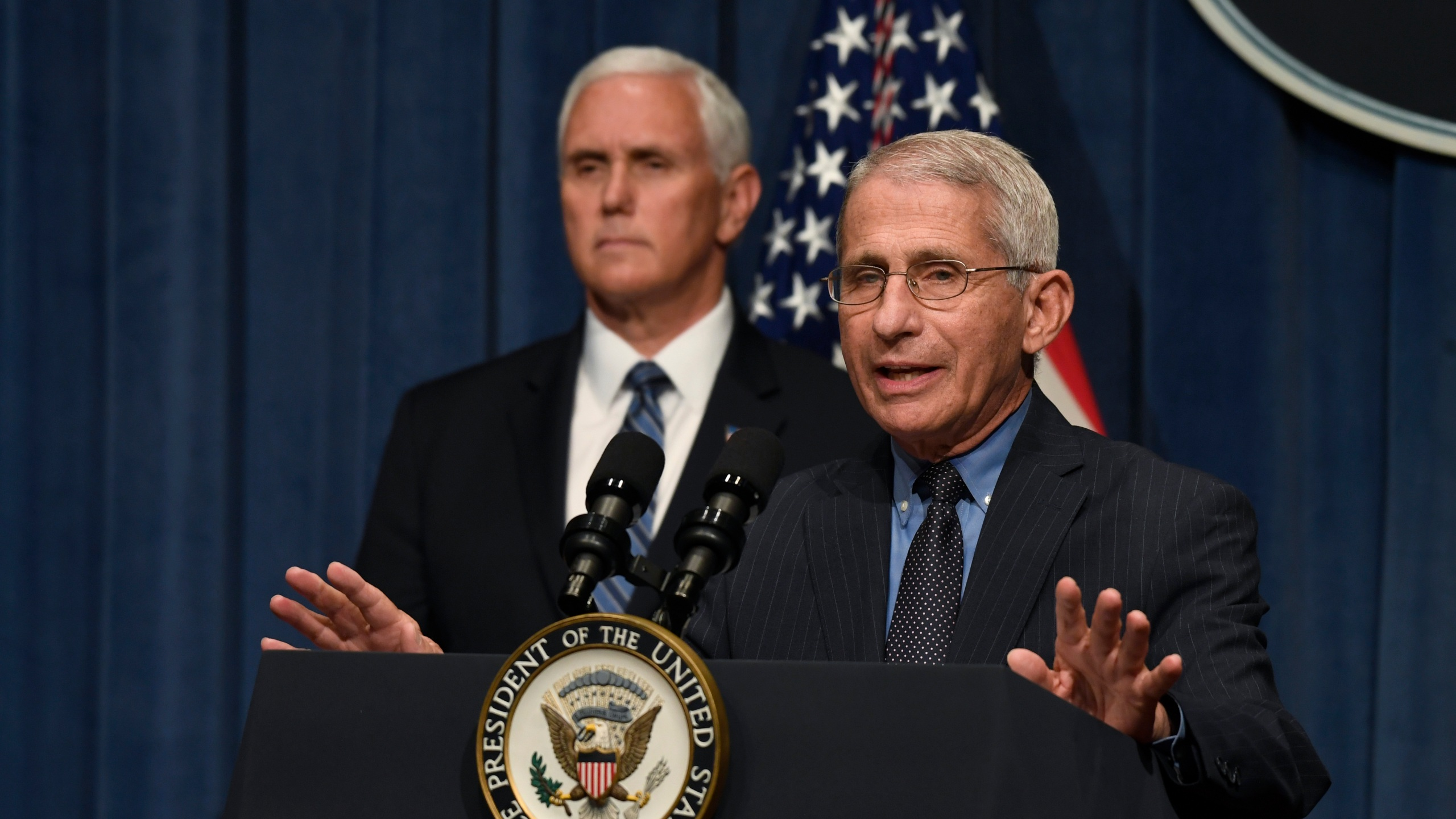 Anthony Fauci, Mike Pence