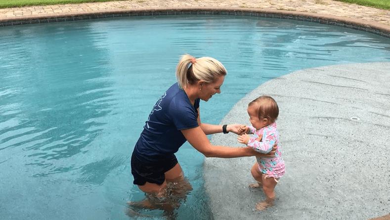 infant swimming