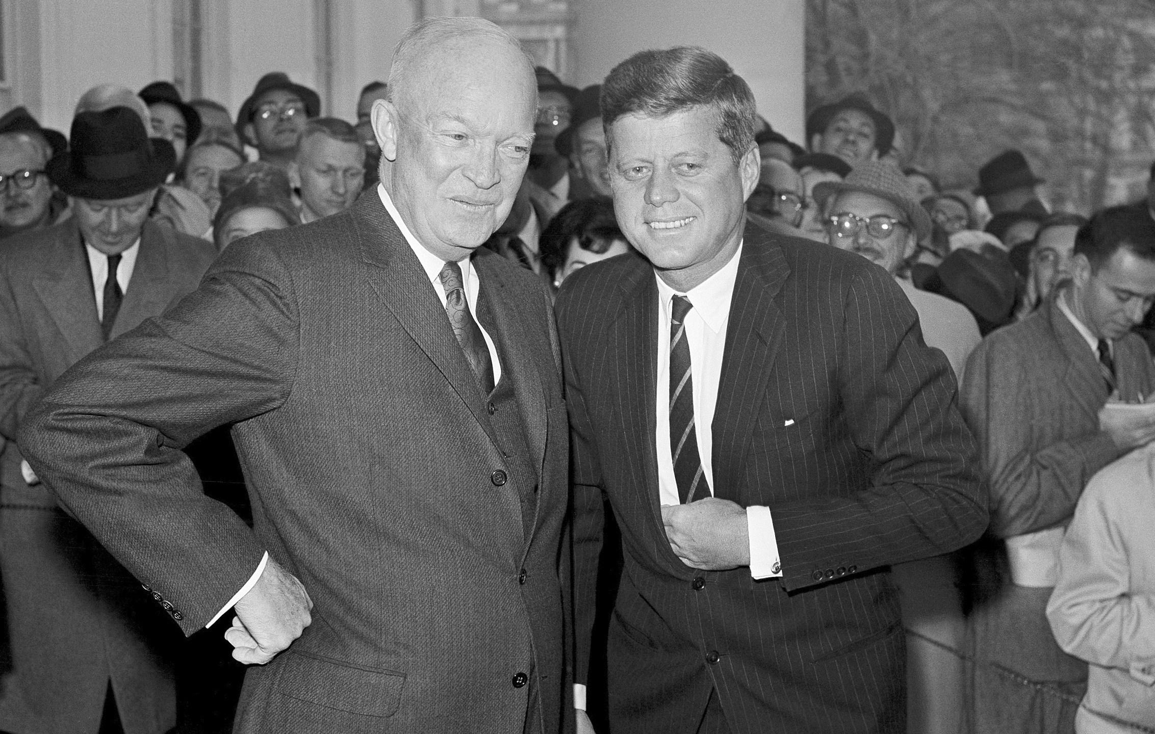 Dwight Eisnehower, John Kennedy, Dwight Eisenhower, John F. Kennedy